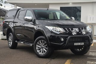 2017 Mitsubishi Triton MQ MY17 GLS Double Cab Black 5 Speed Sports Automatic Utility.