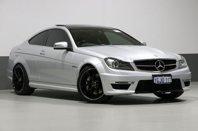 Used Mercedes-Benz C63 W204 MY13 AMG, 2013 Mercedes-Benz C63 W204 MY13 AMG Silver 7 Speed Automatic G-Tronic Coupe