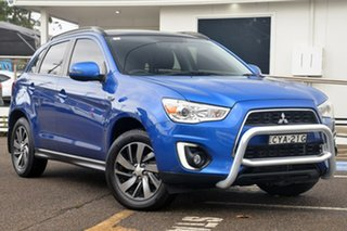 2014 Mitsubishi ASX XB MY15 XLS Blue 6 Speed Sports Automatic Wagon.