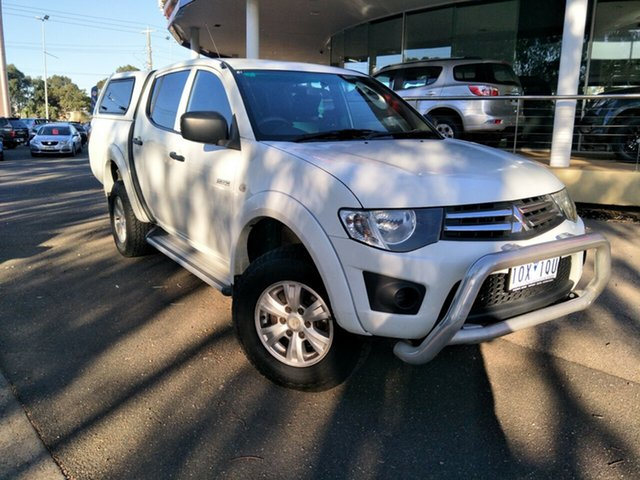 Used Mitsubishi Triton MN MY11 GL-R Double Cab 4x2, 2011 Mitsubishi Triton MN MY11 GL-R Double Cab 4x2 White 5 Speed Manual Utility