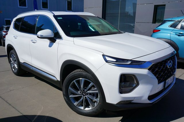 Demo Hyundai Santa Fe TM MY19 Elite, 2019 Hyundai Santa Fe TM MY19 Elite White Cream 8 Speed Sports Automatic Wagon