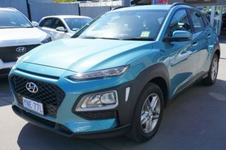 2018 Hyundai Kona OS.2 MY19 Active D-CT AWD Ceramic Blue 7 Speed Sports Automatic Dual Clutch Wagon.