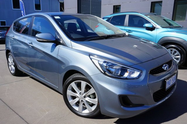 Demo Hyundai Accent RB6 MY18 Sport, 2018 Hyundai Accent RB6 MY18 Sport Lake Silver 6 Speed Sports Automatic Hatchback