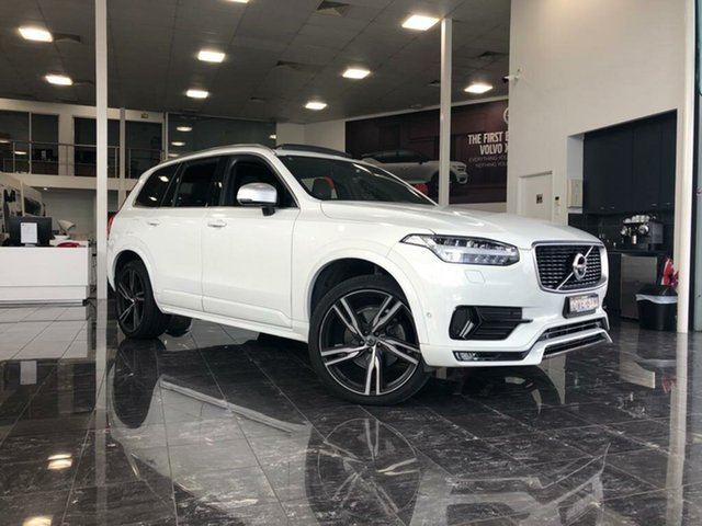 Used Volvo XC90 256 MY19 D5 R-Design, 2018 Volvo XC90 256 MY19 D5 R-Design Ice White 8 Speed Automatic Geartronic Wagon