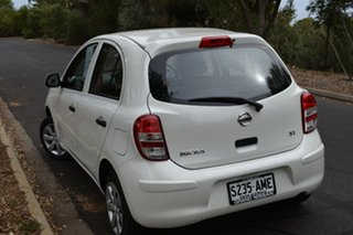 2011 Nissan Micra K13 ST White 5 Speed Manual Hatchback.