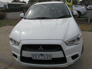 2010 Mitsubishi ASX XA MY11 2WD White 6 Speed Constant Variable Wagon.