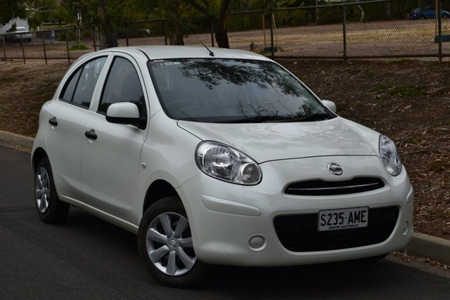 Used Nissan Micra K13 ST, 2011 Nissan Micra K13 ST White 5 Speed Manual Hatchback