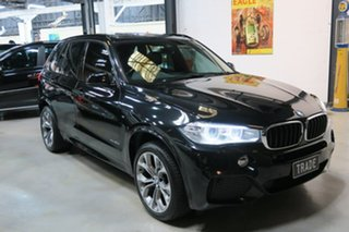 2014 BMW X5 F15 xDrive30d Black 8 Speed Sports Automatic Wagon.