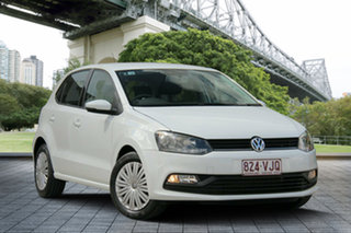 2014 Volkswagen Polo 6R MY15 66TSI Trendline White 5 Speed Manual Hatchback.