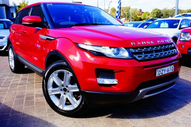 Used Land Rover Range Rover Evoque L538 MY12 TD4 CommandShift Pure, 2012 Land Rover Range Rover Evoque L538 MY12 TD4 CommandShift Pure Red 6 Speed Sports Automatic