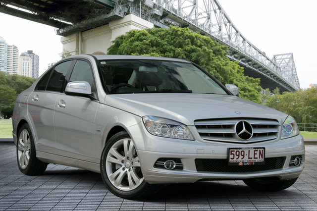 Used Mercedes-Benz C200 Kompressor W204 Classic, 2008 Mercedes-Benz C200 Kompressor W204 Classic Silver 5 Speed Sports Automatic Sedan