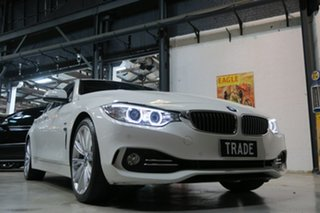 2015 BMW 420i F36 Luxury Line Gran Coupe White 8 Speed Sports Automatic Hatchback