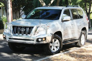 2013 Toyota Landcruiser Prado KDJ150R MY14 GXL Silver 5 Speed Sports Automatic Wagon.