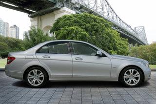 2008 Mercedes-Benz C200 Kompressor W204 Classic Silver 5 Speed Sports Automatic Sedan.