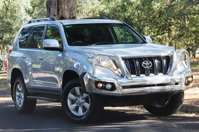 Used Toyota Landcruiser Prado KDJ150R MY14 GXL, 2013 Toyota Landcruiser Prado KDJ150R MY14 GXL Silver 5 Speed Sports Automatic Wagon
