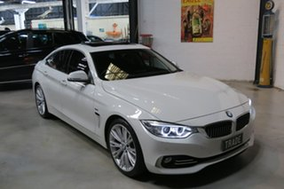 2015 BMW 420i F36 Luxury Line Gran Coupe White 8 Speed Sports Automatic Hatchback.