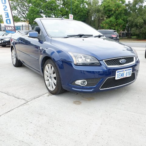 Used Ford Focus LT Coupe Cabriolet, 2007 Ford Focus LT Coupe Cabriolet Blue 4 Speed Sports Automatic Convertible