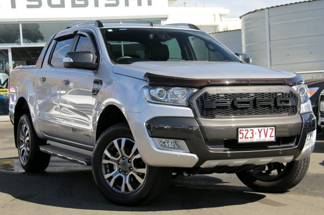 Used Ford Ranger PX MkII 2018.00MY Wildtrak Double Cab, 2017 Ford Ranger PX MkII 2018.00MY Wildtrak Double Cab Silver 6 Speed Sports Automatic Utility