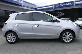 2013 Mitsubishi Mirage LA MY14 LS Silver 1 Speed Constant Variable Hatchback.