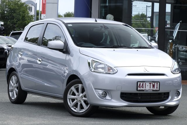 Used Mitsubishi Mirage LA MY14 LS, 2013 Mitsubishi Mirage LA MY14 LS Silver 1 Speed Constant Variable Hatchback