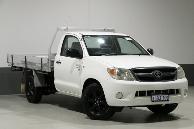 Used Toyota Hilux GGN15R 07 Upgrade SR, 2008 Toyota Hilux GGN15R 07 Upgrade SR White 5 Speed Manual Cab Chassis