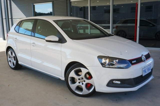 Used Volkswagen Polo 6R MY12.5 GTI DSG, 2011 Volkswagen Polo 6R MY12.5 GTI DSG White 7 Speed Sports Automatic Dual Clutch Hatchback