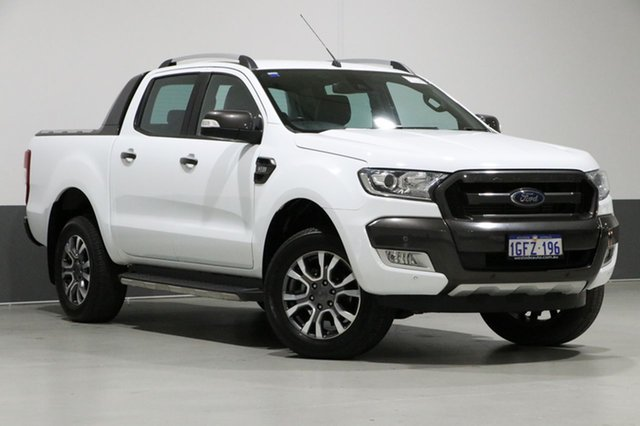 Used Ford Ranger PX MkII MY17 Wildtrak 3.2 (4x4), 2017 Ford Ranger PX MkII MY17 Wildtrak 3.2 (4x4) White 6 Speed Automatic Dual Cab Pick-up