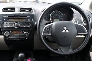 2013 Mitsubishi Mirage LA MY14 LS Silver 1 Speed Constant Variable Hatchback