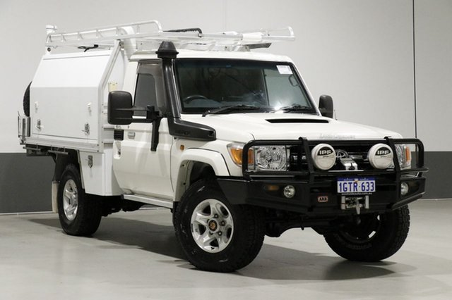 Used Toyota Landcruiser VDJ79R MY12 Update GXL (4x4), 2012 Toyota Landcruiser VDJ79R MY12 Update GXL (4x4) White 5 Speed Manual Cab Chassis