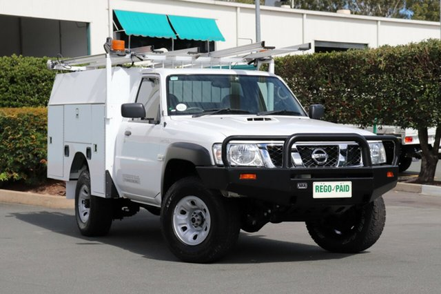 Used Nissan Patrol MY11 Upgrade DX (4x4), 2014 Nissan Patrol MY11 Upgrade DX (4x4) White 5 Speed Manual Leaf Cab Chassis