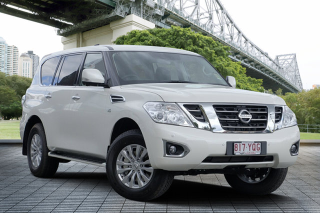 Demo Nissan Patrol Y62 Series 4 TI, 2019 Nissan Patrol Y62 Series 4 TI Ivory Pearl 7 Speed Sports Automatic Wagon