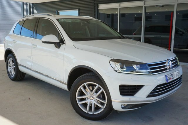 Used Volkswagen Touareg 7P MY16 150TDI Tiptronic 4MOTION Element, 2015 Volkswagen Touareg 7P MY16 150TDI Tiptronic 4MOTION Element White 8 Speed Sports Automatic