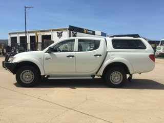 2011 Mitsubishi Triton MN MY12 GLX Double Cab White 4 Speed Automatic Utility