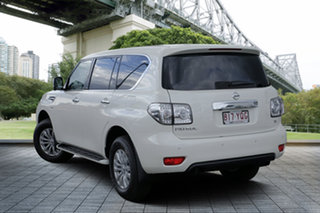 2019 Nissan Patrol Y62 Series 4 TI Ivory Pearl 7 Speed Sports Automatic Wagon.