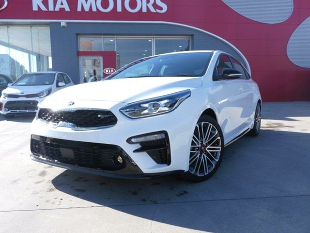 New Kia Cerato BD MY19 GT DCT, 2019 Kia Cerato BD MY19 GT DCT Clear White 7 Speed Sports Automatic Dual Clutch Hatchback