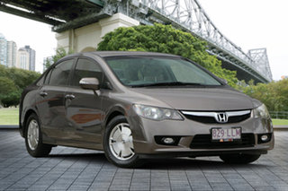 2008 Honda Civic 8th Gen MY09 Hybrid Bronze 1 Speed Constant Variable Sedan Hybrid.