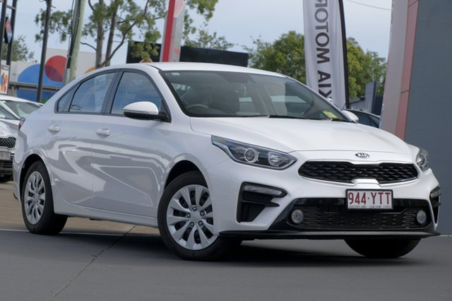 Demo Kia Cerato BD MY19 S, 2018 Kia Cerato BD MY19 S Snow White Pearl 6 Speed Sports Automatic Sedan