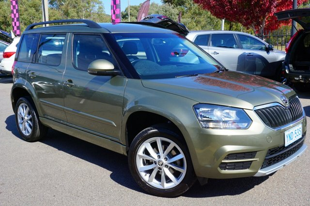 Used Skoda Yeti 5L MY15 77TSI DSG Active, 2015 Skoda Yeti 5L MY15 77TSI DSG Active Green 7 Speed Sports Automatic Dual Clutch Wagon