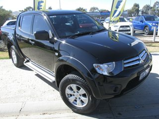 2014 Mitsubishi Triton MN MY15 GLX Double Cab Black 5 Speed Manual Utility.