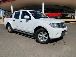 2014 Nissan Navara D40 S7 ST 4x2 White 5 Speed Sports Automatic Utility.