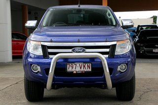 2015 Ford Ranger PX XLT Double Cab 4x2 Hi-Rider Aurora Blue 6 Speed Sports Automatic Utility