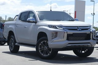 2018 Mitsubishi Triton MR MY19 GLS Double Cab White 6 Speed Manual Utility.
