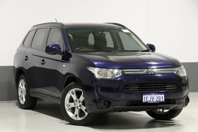 Used Mitsubishi Outlander ZJ MY14 ES (4x4), 2013 Mitsubishi Outlander ZJ MY14 ES (4x4) Blue Continuous Variable Wagon