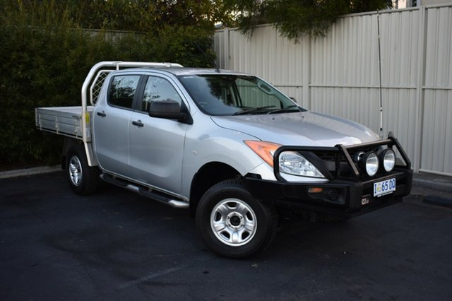 Used Mazda BT-50 UP0YF1 XT, 2012 Mazda BT-50 UP0YF1 XT Silver 6 Speed Manual Cab Chassis