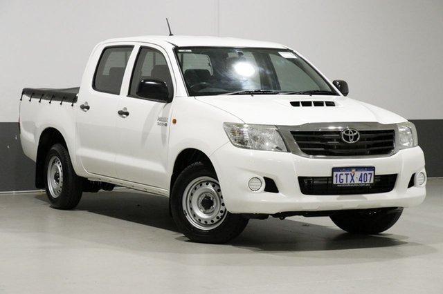 Used Toyota Hilux KUN16R MY14 SR, 2014 Toyota Hilux KUN16R MY14 SR White 5 Speed Manual Dual Cab Pick-up