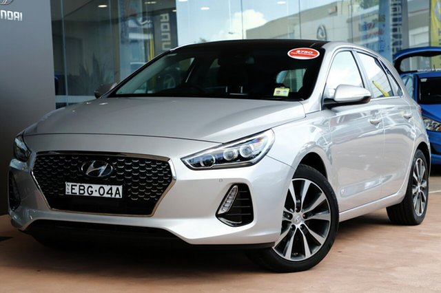 Demo Hyundai i30  Premium, 2018 Hyundai i30 PREMIUM Premium Platinum Silver 6 Speed Sports Automatic Hatchback