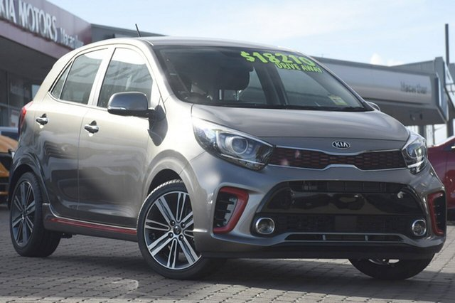 New Kia Picanto JA MY19 GT-Line, 2019 Kia Picanto JA MY19 GT-Line Titanium Silver 4 Speed Automatic Hatchback