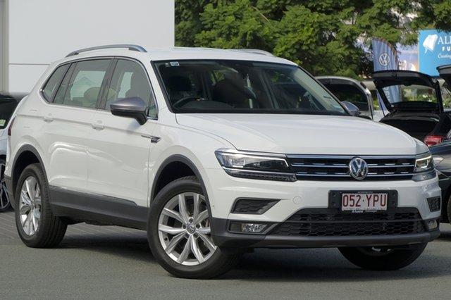 Demo Volkswagen Tiguan 5N MY18 132TSI Comfortline DSG 4MOTION Allspace, 2018 Volkswagen Tiguan 5N MY18 132TSI Comfortline DSG 4MOTION Allspace Pure White 7 Speed