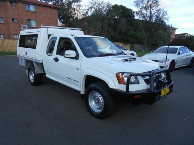 Used Holden Colorado RC LX (4x4), 2009 Holden Colorado RC LX (4x4) White 5 Speed Manual Service Body