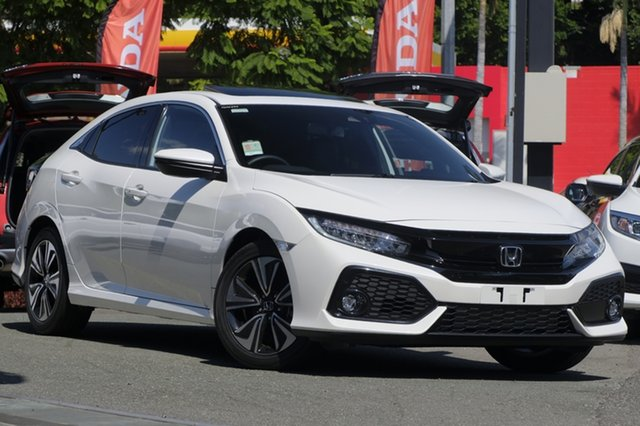 Demo Honda Civic 10th Gen MY18 VTi-LX, 2018 Honda Civic 10th Gen MY18 VTi-LX White Orchid 1 Speed Constant Variable Hatchback